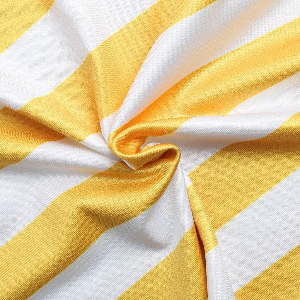 Summer Women Short Sleeved Casual Sleeveless Stripe Print Straight Dress Tunic Waist Dresses Beach Vestido