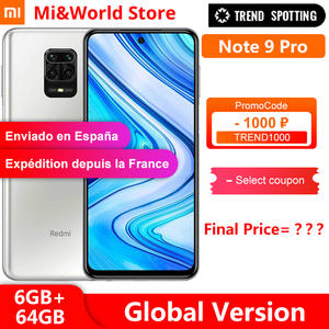 Xiaomi Snapdragon 720G Redmi Note-9 Pro 64GB 6GB LTE/GSM/WCDMA NFC Quick Charge 4.0 Octa Core