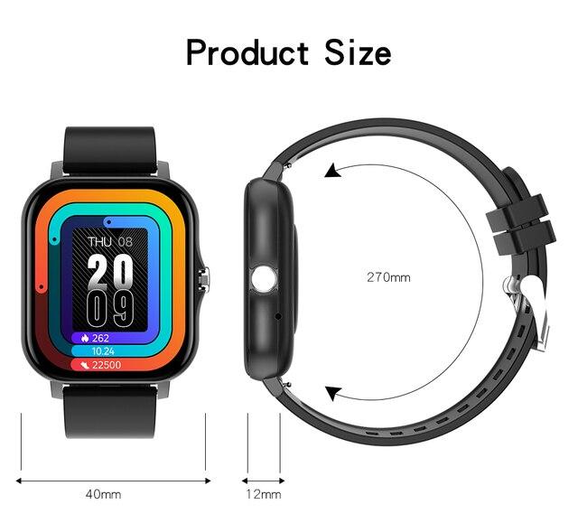 2021 New 1.69 Inch Smart Watch Men Women Bluetooth Call Custom Dial Watch For IOS Xiaomi Oppo Huawei PK Smartwatch P8 Plus 5