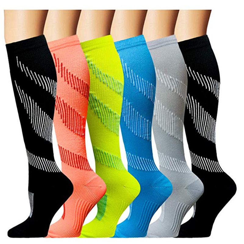 25 Styles Unisex Compression Sock Football Socks  Anti Fatigue Pain Relief Varicose Vein Circulation Sock For Men Travel Socks