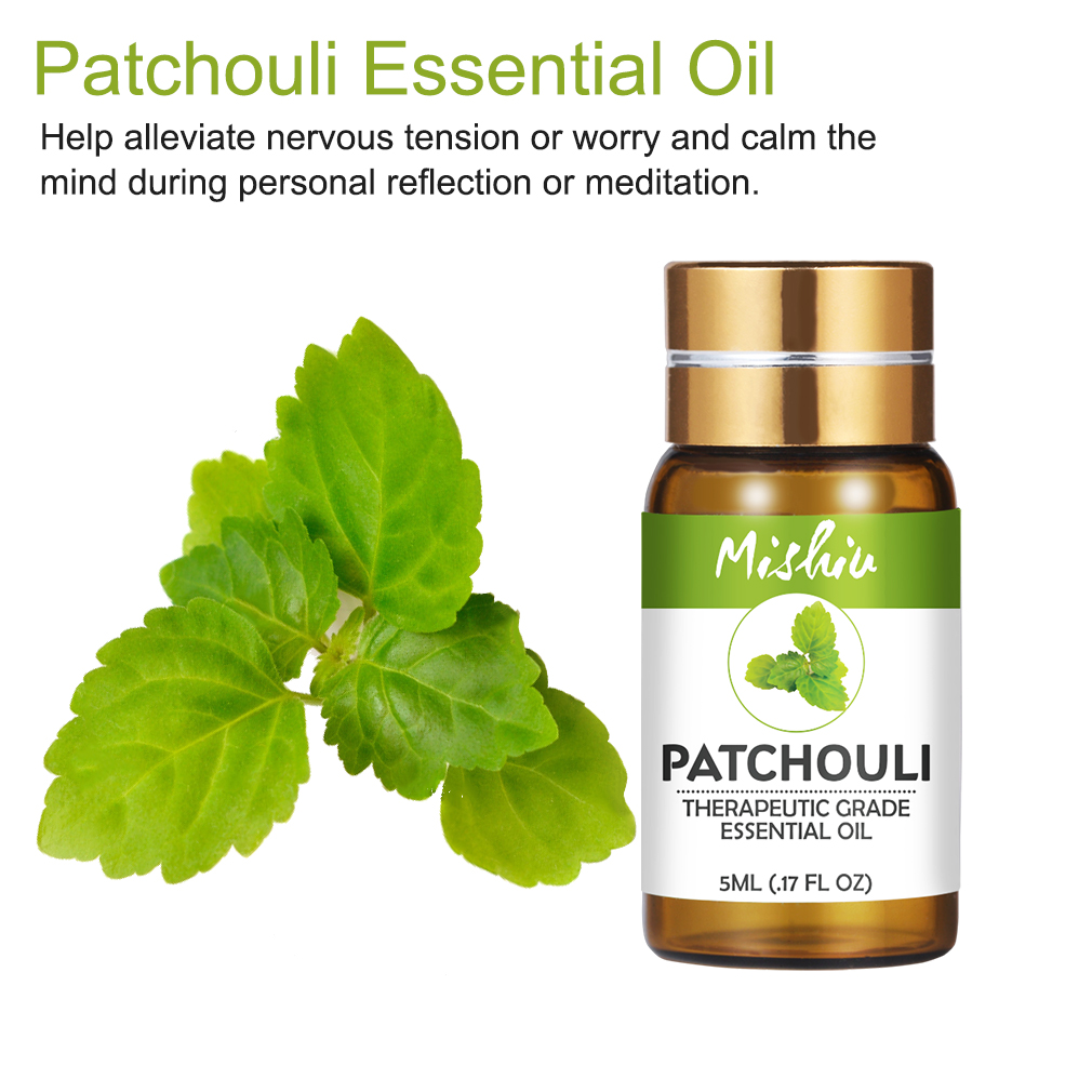 Mishiu 5ML100%Pure Patchouli Essential Oils Massage Humidifier Essential Oil Help Alleviate Nervous Tension&worry&calm The Mind