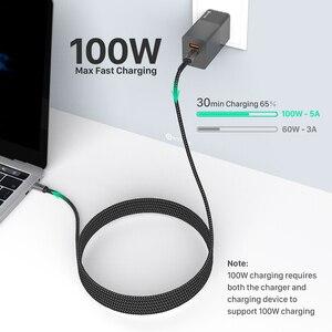 WOTOBE USB-C кабель 2 м 5A E-MARK PD100W для PD61W 65W 87W 96W для S20 Note10 PPS 45W адаптер питания Type-c ноутбуков