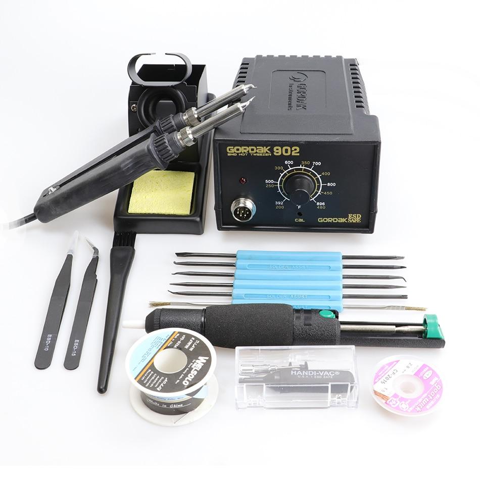 GORDAK constant temperature soldering station 902 adjustable electric heating tweezers clip desoldering tool 220V 75W