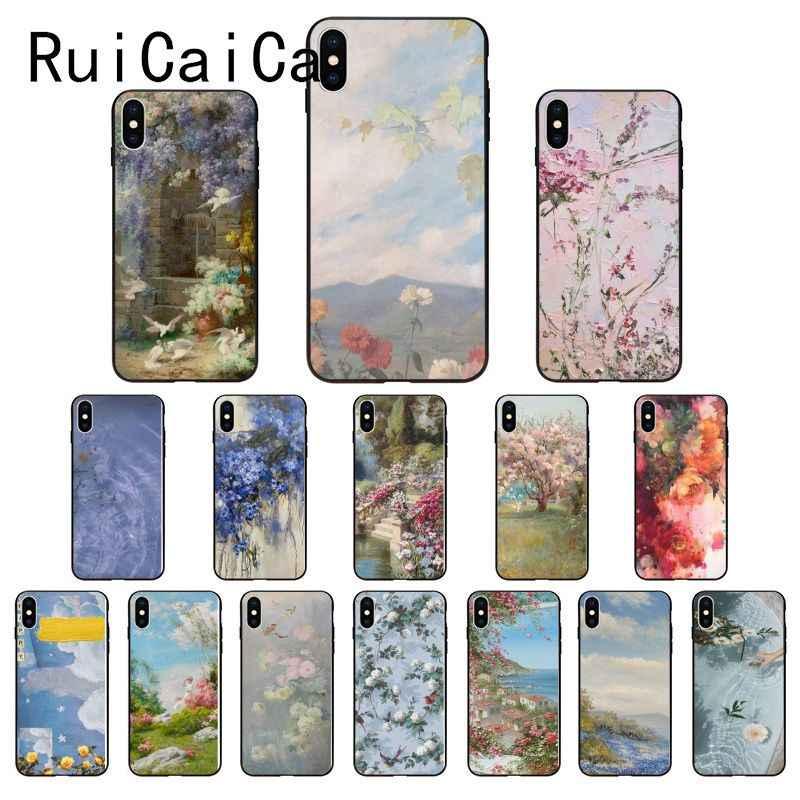 Ruicaica Flower Painting Aesthetic Wallpaper Diy Painted Phone