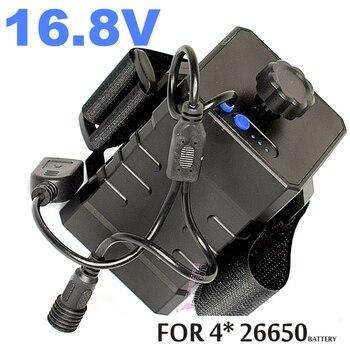 цена на Mobile power supply 4 lithium battery 26650 power battery high power car mobile power supply start treasure 16.8V