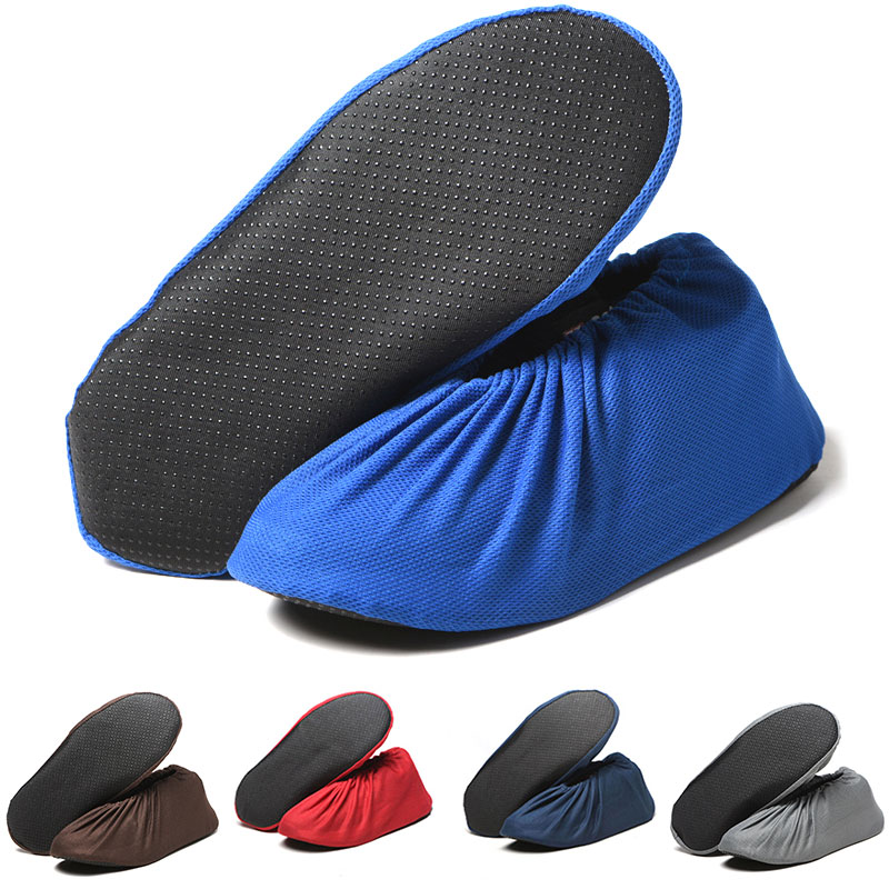 1Pair Reusable Shoes Protector Cover Keep Floor Carpet Cleaning Household Non-slip Shoe Covers Breathable Outdoor Shoes Washable