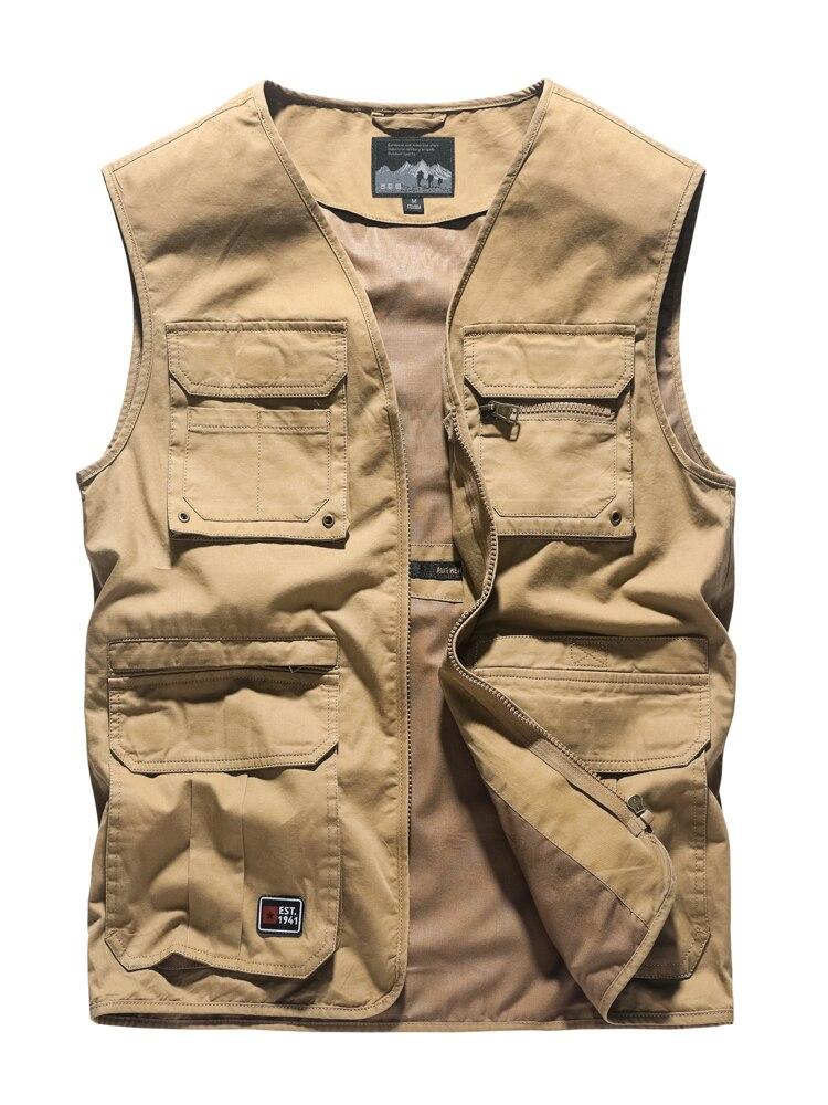 Nouveau gilet de travail extérieur 4XL pour hommes veste de travail pour hommes avec poches gilet décontracté