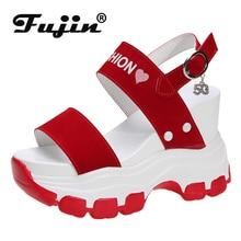 Fujin Women Summer Fashion Sandals High Heels Swing Platform Women Shoe