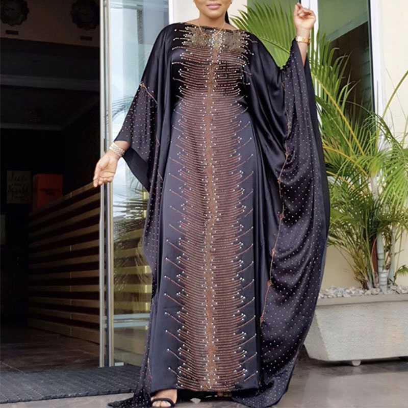 Africa Dress African Dresses For Women Dashiki Diamond Africa Clothing Abaya Muslim Long Dress High Quality African Clothes