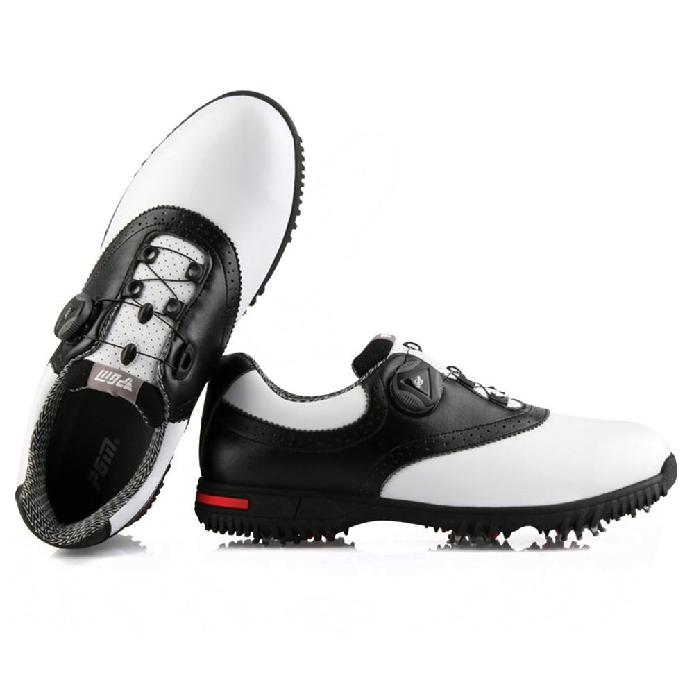 PGM Men Golf Shoes Waterproof Sports Shoes Rotating Buckles Anti-slip Sneakers Multifunctional Golf Trainers 5