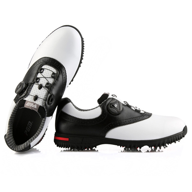 PGM Men Golf Shoes Waterproof Sports Shoes Rotating Buckles Anti-slip Sneakers Multifunctional Golf Trainers 5