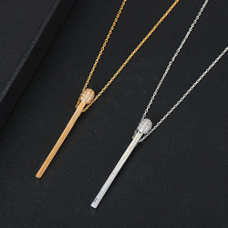 SISCATHY New Trendy Simple matches Shape Pendant Necklace Romantic Elegant Bridal Wedding Party For Women Girls Jewelry 2020