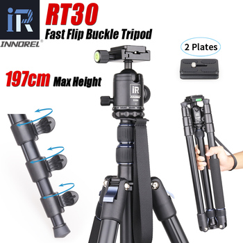 цена на INNOREL RT30 Tripod  Fast Flip Buckle Height 197cm/77.6in Monopod Aluminium Alloy Professional Ball Head for Travel Camera Video