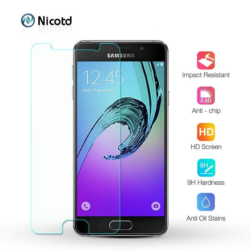 Protector de cristal templado para pantalla de móvil, película protectora para Samsung Galaxy J3 J5 J7 A3 A5 A7 2016 2017 A6 A8 Plus 2018, J4 J6 J8