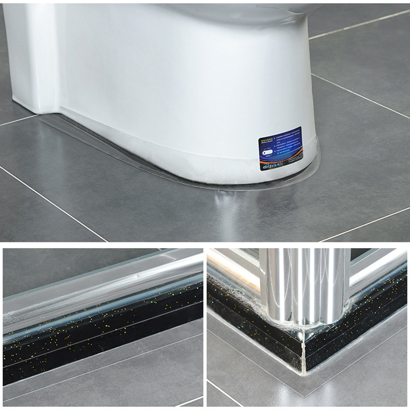 One Roll Bath Shower Kitchen Toilet Wall Sealing Sealant Strip Caulk Tape Useful