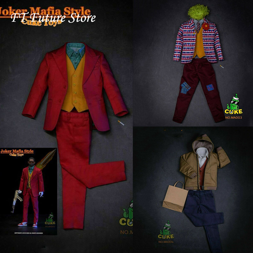 In Stock CUKE TOYS MA-002/MA-003/MA-004 1/6 Scale Clown Joker Suit Clothes Costume Casual Outfit Model For 12'' Action Figure