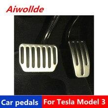 Автомобильные аксессуары алюминиевые автомобильные педали для Tesla модель 3 педаль акселератора педаль тормоза Подножка педаль