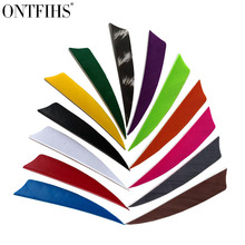 50PCS ONTFIHS 2.5inch Archery Fletches  Shied Cut Feather for Arrows Fletching  2.5Cut Turkey Plume for Hunting Shooting 36 pcs ontfihs new 2 5inch archery fletches feather parabolic stripe plume turkey feathers arrow fletching for hunting shooting