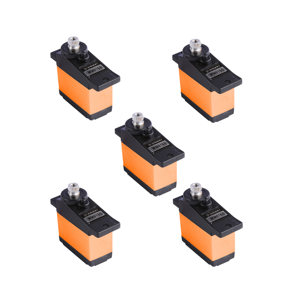 5PCS K-power MM0160 3KG/0.12s Metal Gear Servo for Fixed wing RC Airplane Helicopter micro servo for rc hobby image