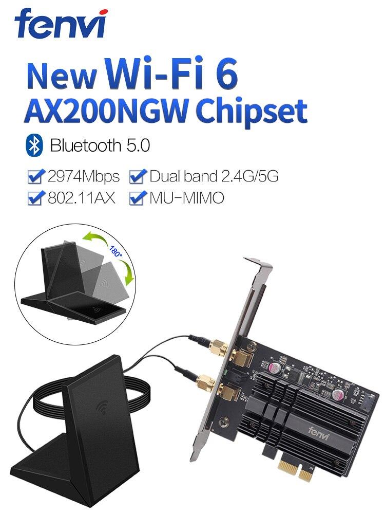 Pci-E-Wifi-Adapter Ax200ngw-Card Desktop Dual-Band Bluetooth Wi-Fi Wireless 2400mbps