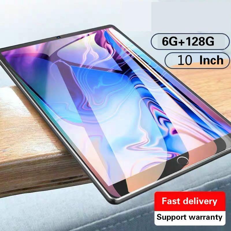 2021 Новые 10,1 дюймов планшетный ПК с системой андроида и 9,0 6 ГБ Оперативная память 128 Гб Встроенная память 4 аппарат не привязан к оператору сот...