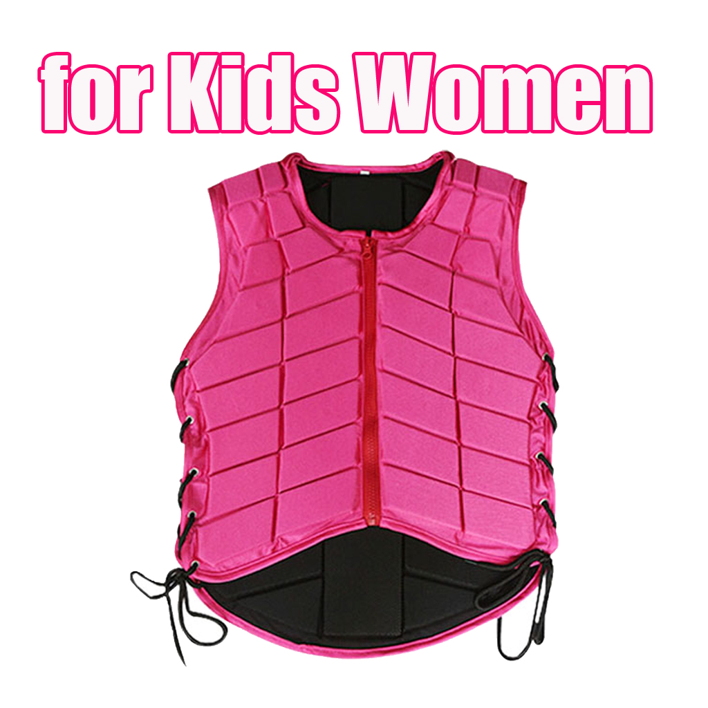 Breathable Plus Size Vest Pink Equestrian Vest Horse Riding Training Safety Waistcoat Body Protector With Nail clippers