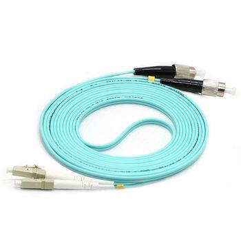 Free Shipping LC/UPC-FC/UPC Multi-Mode OM3 Fiber Cable Multimode Duplex Fiber Optical Jumper Patch Cord 3M 5M 10M15M 20M 25M