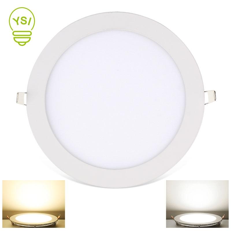 LED Panel Light 3W 4W 6W 9W 12W 15W 18W Ultra Thin Spot LED 220V 110V Round Recessed Spot Light Lamp For Living Room