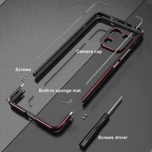 Image 2 - Dla Xiaomi Mi 11 Pro Case luksusowa oryginalna aluminiowa metalowa obudowa zderzaka Mi 11 Pro pokrywa odporna na wstrząsy rama + futerał na aparat ochronny