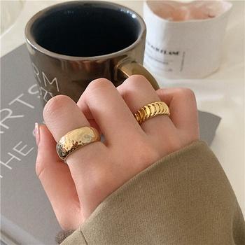 MENGJIQIAO nowa moda Punk złoty kolor metalowe regulowane pierścienie dla kobiet studentów Mid Finger Knuckle Rings Party biżuteria prezenty tanie i dobre opinie CN (pochodzenie) Ze stopu cynku Kobiety TRENDY Zespoły weselne Nieregularne Brak Pierścionki