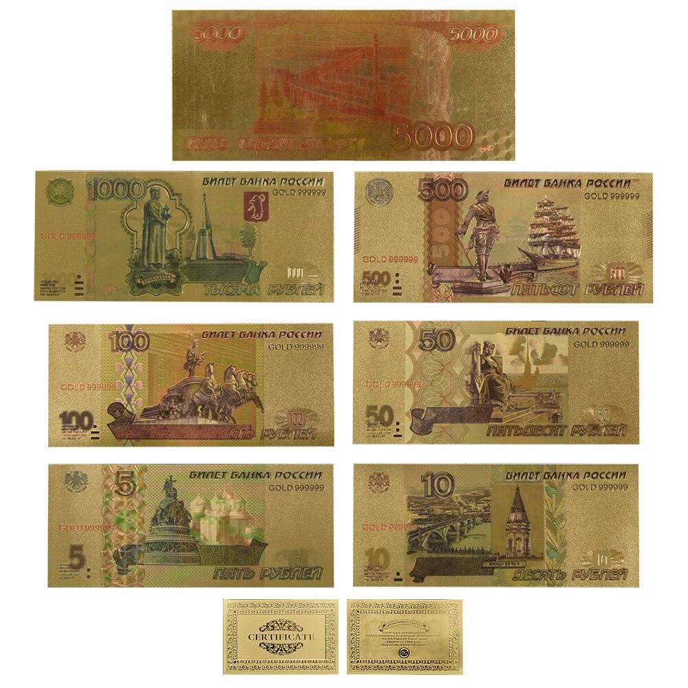 Venta al por mayor 9 Uds. Rubilo ruso dinero falso papel billetes oro Rusia moneda fútbol 100 billete de Banco nota regalo artículo droenvío Envío Directo