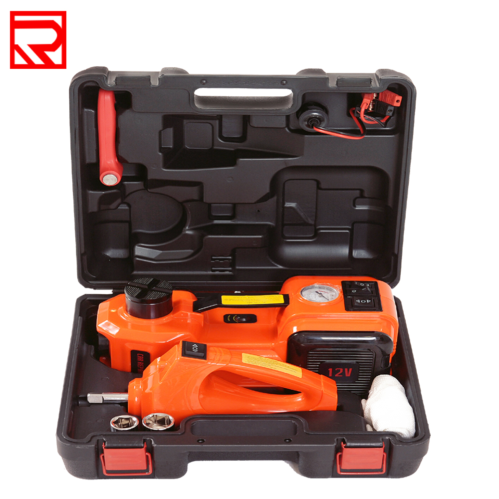 12Volt Electric Hydraulic Car Jack  Hydraulic Jacks Air Infatable 5Tons Car Floor Jack With Impact Wrench