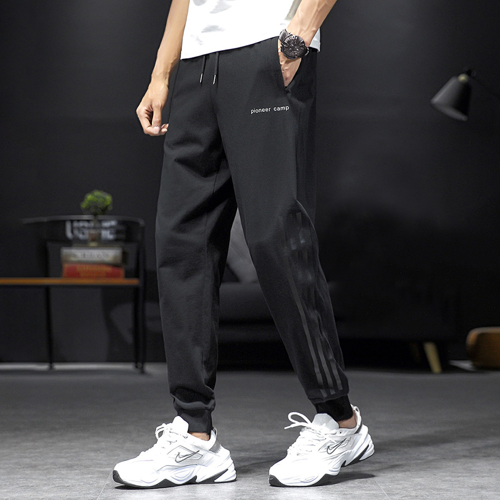 Pioneer Camp 2020 100%Cotton Jogger SweatPants Men Stripe Design Autumn Winter Causal Loose Oversized Men's Clothing AZZ0221156H