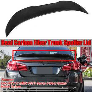 High Quality PSM Style Real Carbon Fiber F10 Car Rear Trunk Boot Lip Spoiler Wing Lid For BMW F10 5 Series 4 Dr Sedan 2011-2017(China)