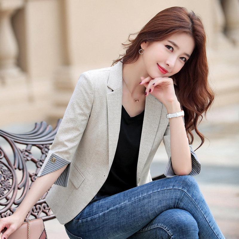 Spring New Fashion Blazer Jacket Women Casual Pockets Long Sleeve Work Suit Coat Office Lady Solid Slim Blazers 2020