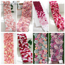 Backdrop-Decoration Flower Roll-Up Artificial-Flower-Wall Custom Wedding Party Arrangement-Shop