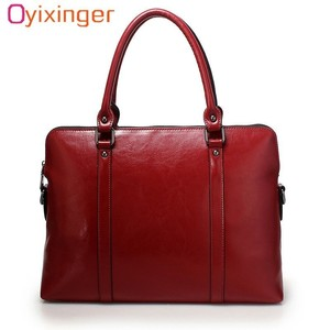 Image 1 - Cowhide Handbag For Women Luxury Shoulder Crossbody Bags Womens Office Messenger Bag Ladies Handbags Sac A Main Bolsos Mujer