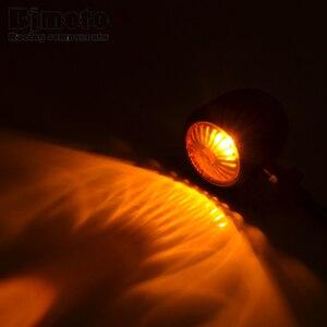 Image 2 - 2 sztuk motocykl kierunkowskazy wskaźnik światła retro Bullet Flashers LED żarówki lampy dla Harley Honda Suzuki Yamaha Kawasaki ATV