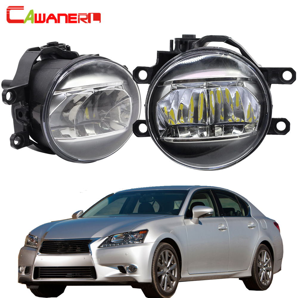 Cawanerl Car Fog Light Kit 4000LM DRL Daytime Running Light White H11 12V For <font><b>Lexus</b></font> <font><b>GS350</b></font> GS460 GS450h 2011 2012 2013 <font><b>2014</b></font> 2015 image