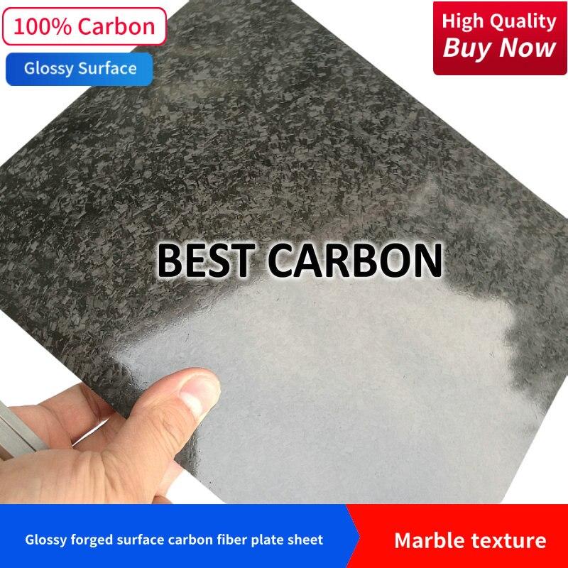 frete gratis textura de marmore superficie da placa de fibra de carbono folha brilhante forjado placa