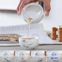 Ceramica Tè insieme Include 1 Pentola 1 Tazza, di Alta qualità elegante e facile da gaiwan, bello e facile teiera bollitore, kung fu teaset