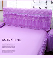 1pc Princess Lace Bedspread Mattress Topper Leather Dust Cover Bed Cover Height 55cm Wide 120/150/180/200/220cm Bedside Cover