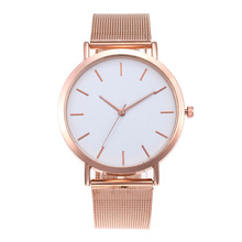 New Fashion Women Watches Ladies Watch Luxury Rose Gold Mesh Band Quartz No Logo Bayan Kol Saati