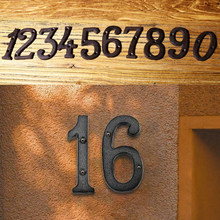 Retro metalowe cyfrowe numery znak duży żeliwny numer drzwi znak dla domu drzwi biurowe Hotel numer Doorplate Garage Bar Store