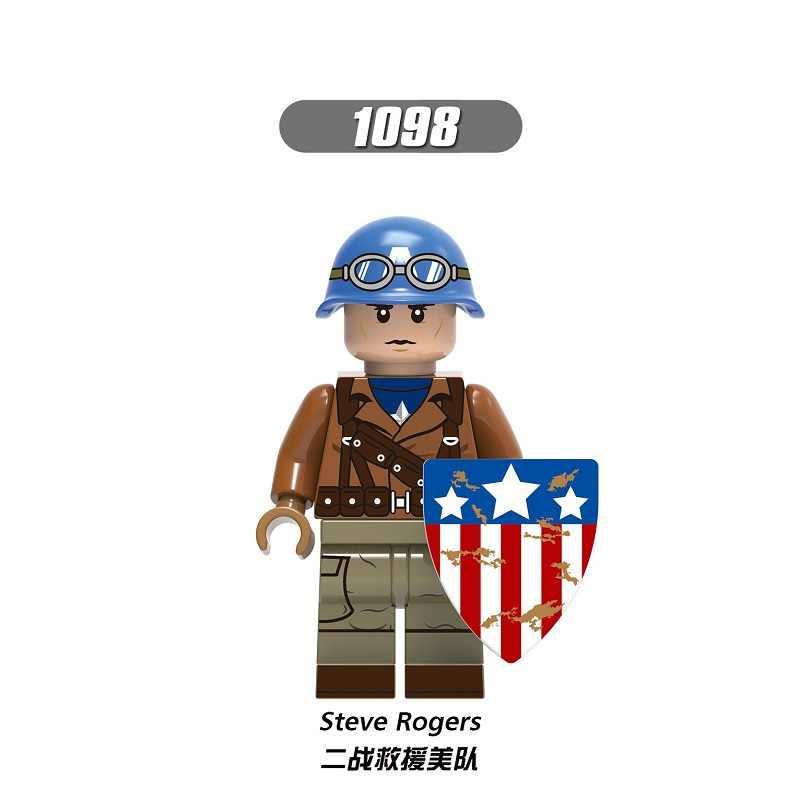 Enkele Verkoop Bouwstenen Super Heroes HYDRA Avengers Captain America Steve Rogers Shield Cijfers Voor Kinderen Gift Speelgoed X0236
