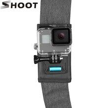 Atire 360 graus rotativo mochila clipe de montagem para gopro hero 9 8 7 preto xiaomi yi 4k sjcam eken cinto de ombro para gopro acessório