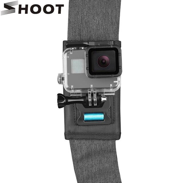 SHOOT 360 degrés rotatif sac à dos fixation par pince pour GoPro Hero 9 8 7 noir Xiaomi Yi 4K Sjcam Eken ceinture dépaule pour accessoire GoPro