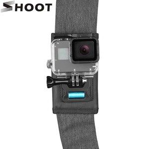 Image 1 - SHOOT 360 stopni obrotowy plecak klip góra dla GoPro Hero 9 8 7 czarny Xiaomi Yi 4K Sjcam Eken pasek na ramię dla GoPro akcesoria
