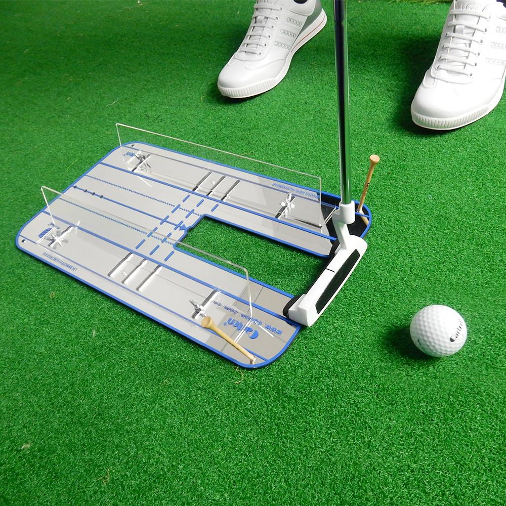 Golf Putting Mirror Alignment Mirror Golf Training Aid Golf Accessories 40.5 * 23cm Outdoor Sports Training Mirror