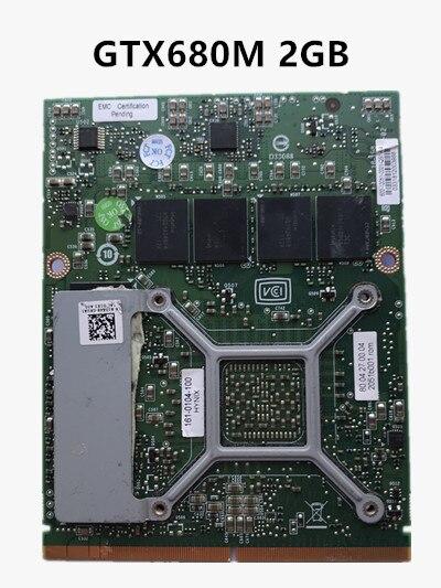 CN-020HTK 20HTK GTX680M GTX 680M VGA CARTE Graphique Vidéo Pour Dell Alienware M17x R4 M18X R2 2G GDDR5 N13E-GTX-A2